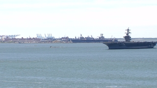 B-Roll: USS Abraham Lincoln Embarks for Sea Trials