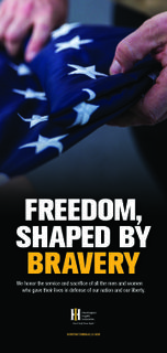 Freedom, Shaped by Bravery