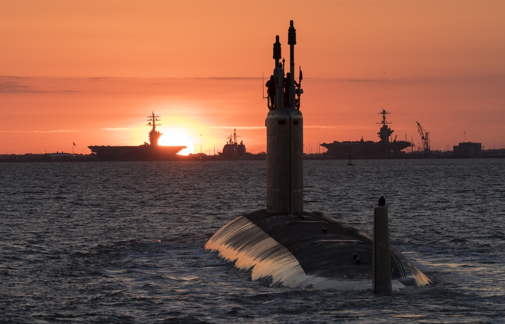 Newport News Shipbuilding Delivered The Virginia Class Submarine Washington SSN 787 To
