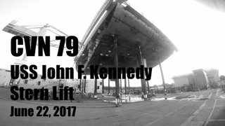 B-Roll: John F. Kennedy (CVN 79) Lower Stern Lift