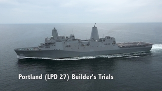 Portland (LPD 27) Builder's Trials