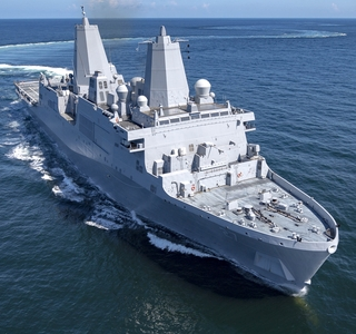 Photo Release--Huntington Ingalls Industries Delivers Amphibious Transport Dock Portland (LPD 27) to U.S. Navy