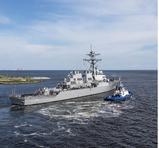 Photo Release--Huntington Ingalls Industries Completes  Overhaul and Modernization of USS Ramage (DDG 61)