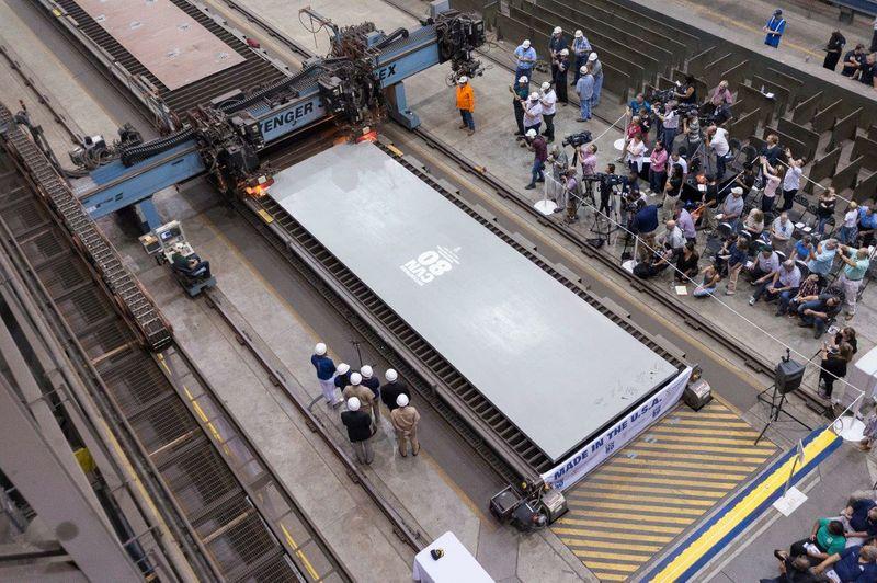 CVN 80 First Cut Of Steel