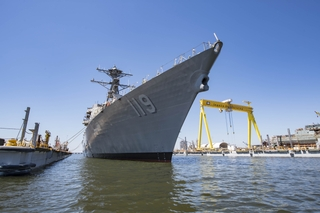 Delbert D Black (DDG 119) Launched