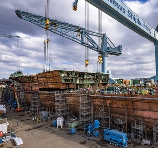 Video Release--Huntington Ingalls Industries Completes 70 Percent of the Structural Work on the Future Aircraft Carrier John F. Kennedy (CVN 79)