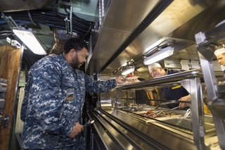 First Meal is Served Aboard Indiana (SSN 789)