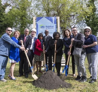 Photo Release--Huntington Ingalls Industries' Newport News Shipbuilding Division Breaks Ground on 16th Habitat for Humanity House