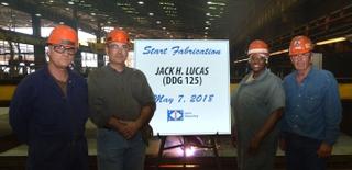 Jack H. Lucas (DDG 125) Start Fab