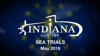 Indiana (SSN 789) Builder's Trials