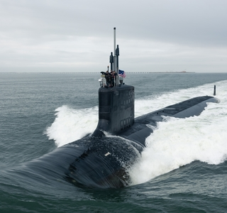 Indiana (SSN 789) in the Chesapeake Bay