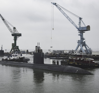 Photo Release--Huntington Ingalls Industries Prepares for 25-Month Overhaul of Los Angeles-Class Submarine USS Boise (SSN 764)