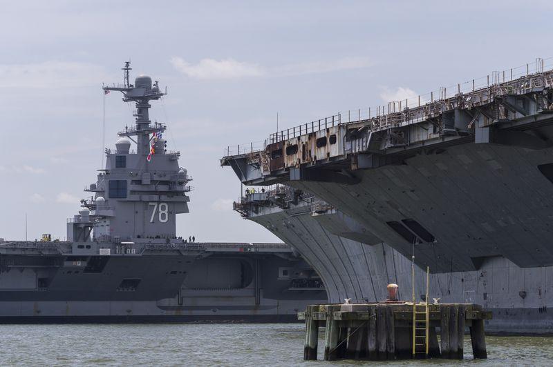 Gerald R. Ford (CVN 78) Arrives at Newport News Shipbuilding