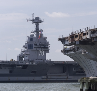 Gerald R. Ford (CVN 78) Arrives at Newport News Shipbuilding