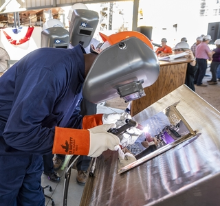 Keel of National Security Cutter Stone Authenticated