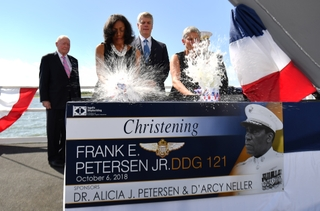 Frank E. Petersen (DDG 121) Christened