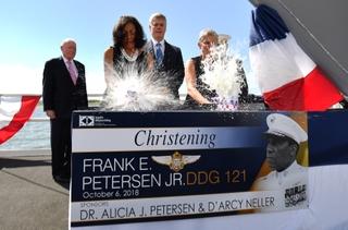 Frank E. Petersen (DDG 121) Christened