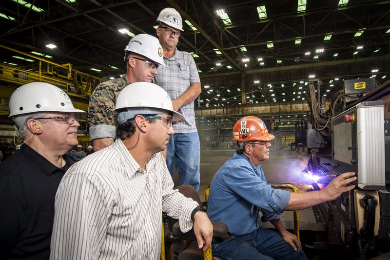 Ingalls Shipbuilding Starts Fabrication of LHA 8