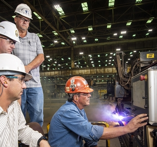 Photo Release--Huntington Ingalls Industries Starts Fabrication of Amphibious Assault Ship Bougainville (LHA 8)