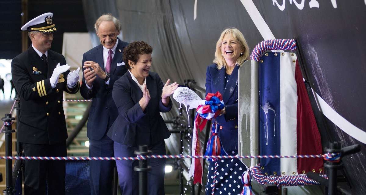 Newport News Shipbuilding Christens Virginia-Class Submarine Delaware (SSN 791)