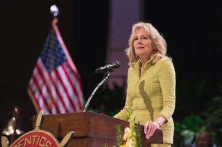 Jill Biden Delivers Apprentice School Commencement Address