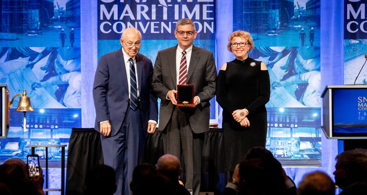 Huntington Ingalls Industries President and CEO honored by Society of Naval Architects and Marine Engineers (SNAME)