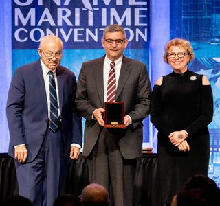 Photo Release--Huntington Ingalls Industries President and CEO honored by Society of Naval Architects and Marine Engineers (SNAME)