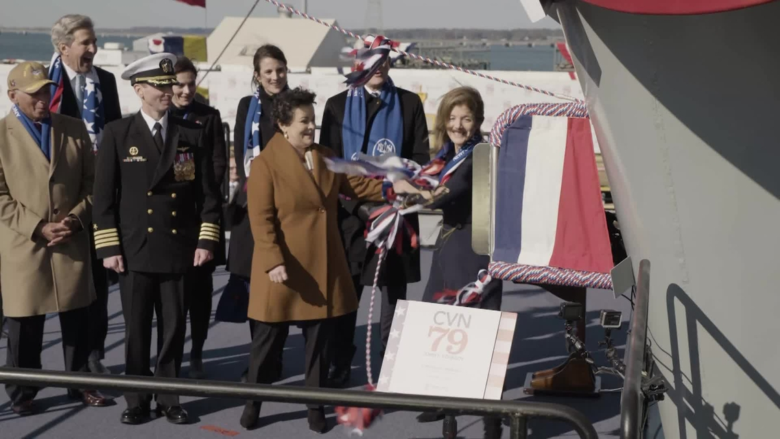 Aircraft Carrier John F. Kennedy (CVN 79) Christened at Newport News Shipbuilding