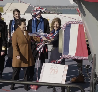 Video Release—Aircraft Carrier John F. Kennedy (CVN 79) Christened at Newport News Shipbuilding