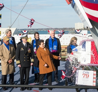 John F. Kennedy (CVN 79) Christened