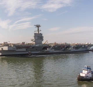 Video Release--Huntington Ingalls Industries Launches  Aircraft Carrier John F. Kennedy (CVN 79)