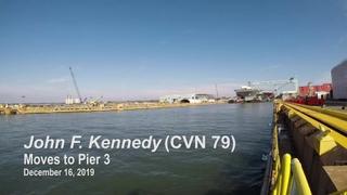 John F. Kennedy (CVN 79) Moves to Pier 3