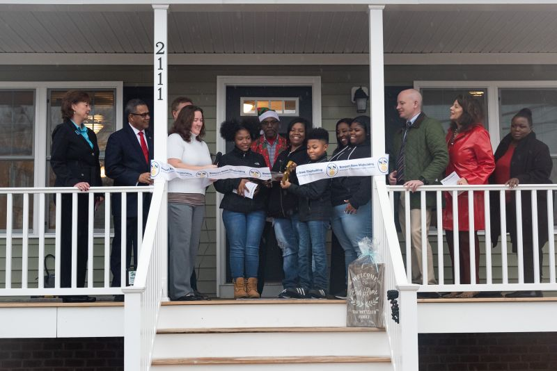 NNS Welcomes Family to Habitat Home