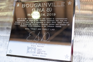 Official Keel Plate for Bougainville (LHA 8)