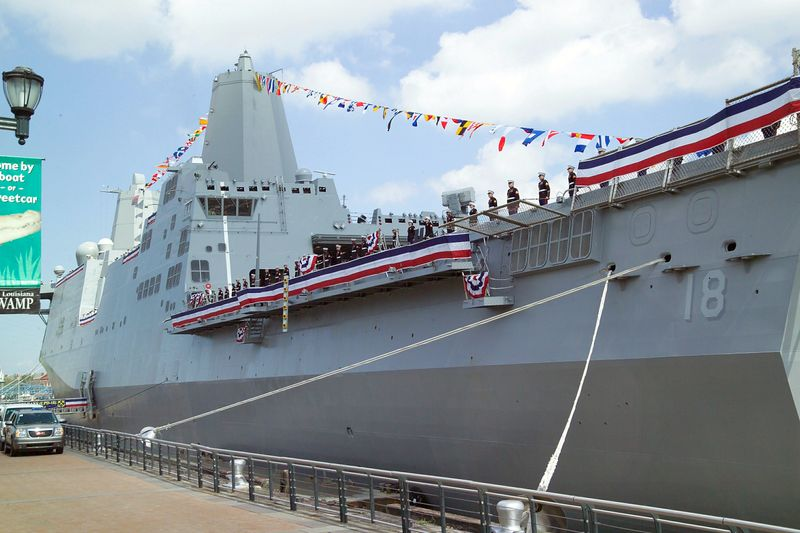 Commissioning of USS New Orleans (LPD 18)