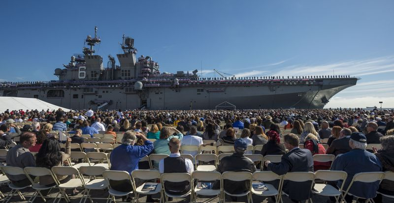 Commissioning of USS America (LHA 6)