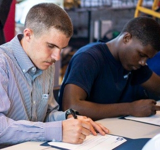"Photo Release--Huntington Ingalls Industries Hosts ""Signing Day"" For Shipbuilder Academy Graduates"
