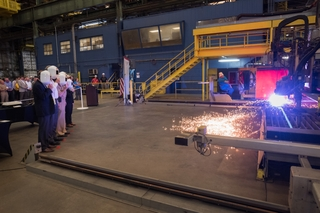 First Cut of Steel For Columbia-class Program