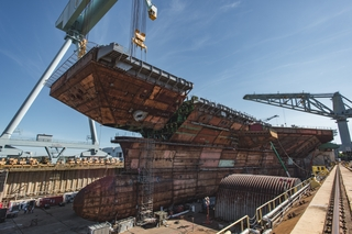 CVN 79 Upper Bow Lift