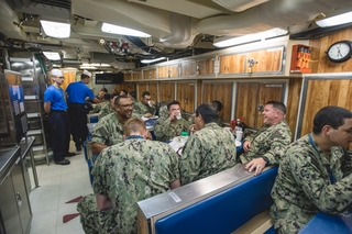 First Meal Aboard Delaware (SSN 791)