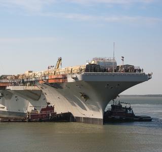 USS George Washington (CVN 73) Moves From Dry Dock