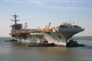 USS George Washington (CVN 73) Moves From Dry Dock