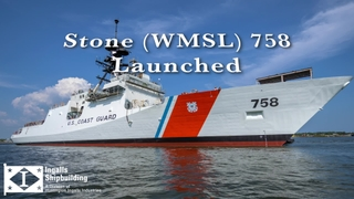 National Security Cutter Stone (WMSL 758) Launched