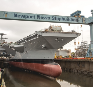 Video Release—Huntington Ingalls Industries Floods Dry Dock in Preparation for Christening Of Aircraft Carrier John F. Kennedy (CVN 79)