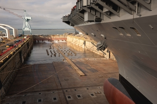 Dry Dock 12 Begins Flooding