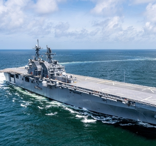Photo Release—Huntington Ingalls Industries Successfully Completes Acceptance Trials for Amphibious Assault Ship Tripoli (LHA 7)