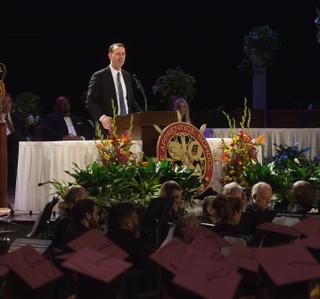 Adm. John Richardson Delivers Commencement Address