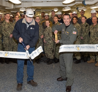 Photo Release—Navy Crew Begins Training in Completed Spaces Aboard the Aircraft Carrier John F. Kennedy (CVN 79)