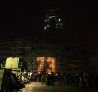George Washington (CVN 73) Island Lights Turned On