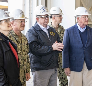 Photo Release--Chief of Naval Operations Adm. Michael Gilday Visits Ingalls Shipbuilding